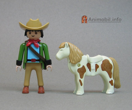 Pony White Brown Spotted