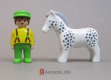 Horse White Spotted 123