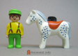 Horse White Spotted with Saddle 123