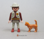 Cat Standing Orange Striped 2