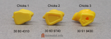 Chicks 1 Legs and Bowl Sprue