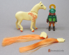 Horse Brushable Mane and Tail Gold