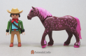Draft Horse Dark Pink Spotted