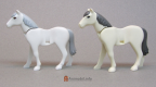Horse Vers 2 Right Foot White with Dark Grey Mane