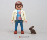 Rabbit Small Dark Brown Sitting